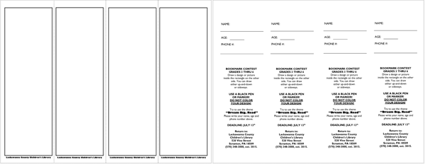 Bookmark Templates: Design your bookmarks in style (For Word & PDF)