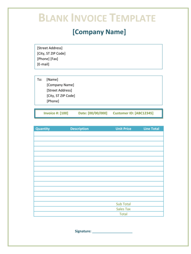 3 blank invoice template and maker to make quick invoices