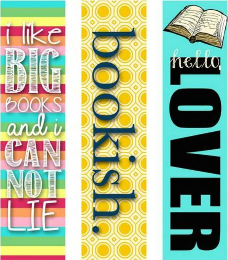 Bookmark printable Template