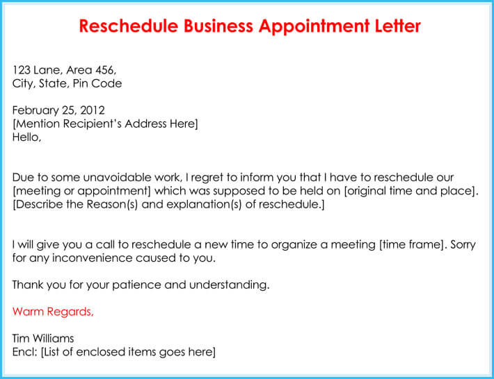 fake business appointment letter