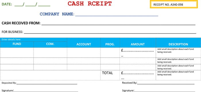21 free cash receipt templates for word excel and pdf business cash receipt template flashek Images