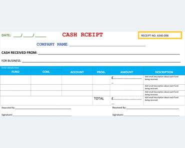 Cash Receipt Template U2013 5+ Printable Cash Receipt Formats For Word  Cash Receipt Template Microsoft Word