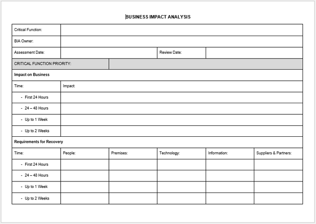 Impact analysis template 19 examples for excel word and pdf business impact analysis methodology cheaphphosting