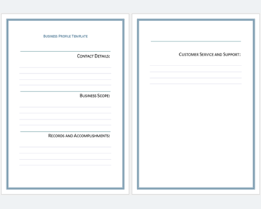 Business profile template free download templates for microsoft word business profile templates easily create professional business profiles accmission