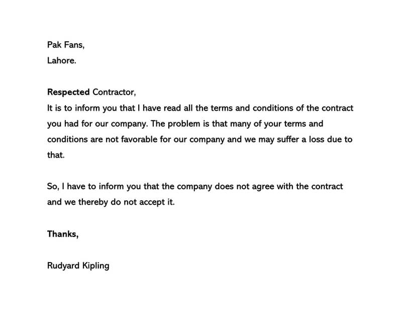 Business Proposal Rejection Letter 02