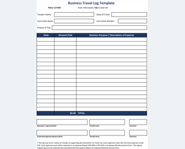 Travel Log Template | 5 Travel Log Templates To Keep Track Your Travels