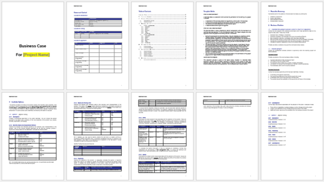 Business Case Templates To Write A Professional Business Case