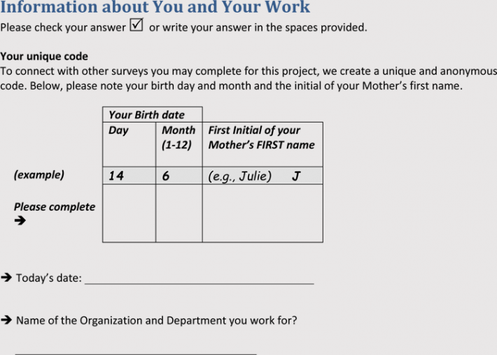 Sample of Employee Needs Assessment Format