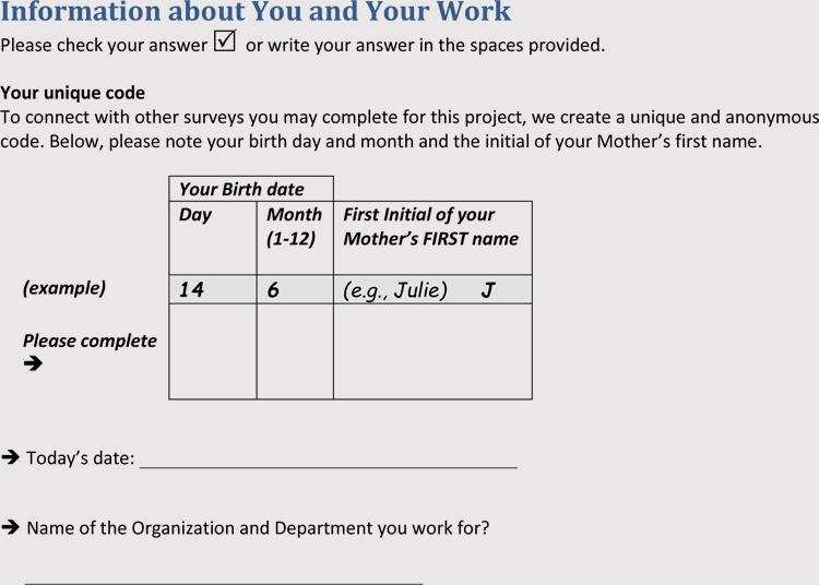 Editable Business Needs Assessment Questions