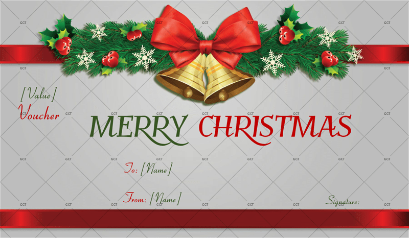 gift card template for word Christmas