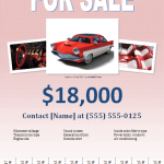 Car For Sale Advertising Flyer Templates