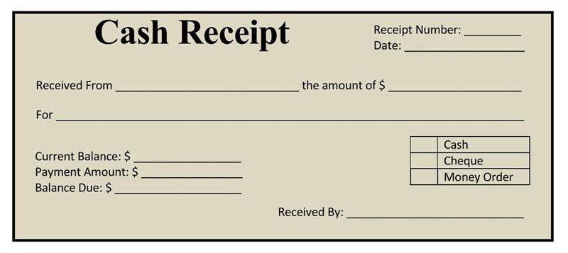 Cash Receipt Template 02