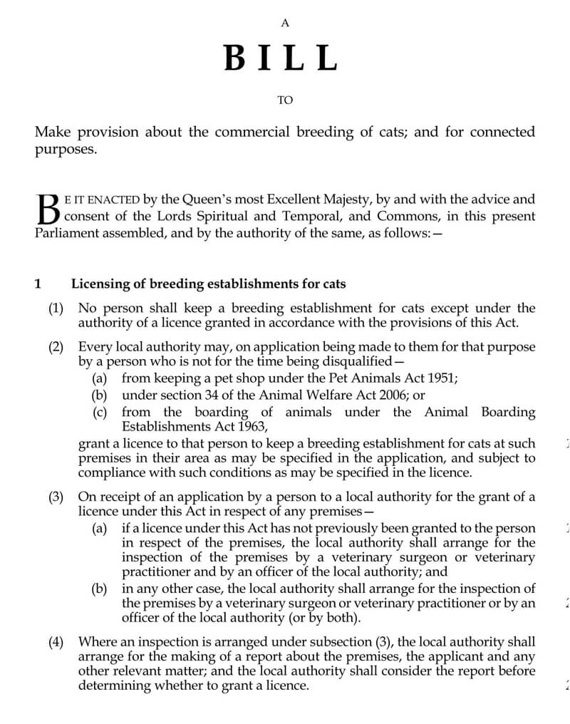 Cat Breeding Rights Contract Form