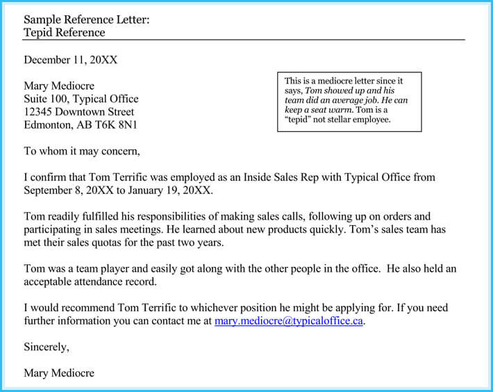 Character Reference Letter - Professional Samples And Writing Tips