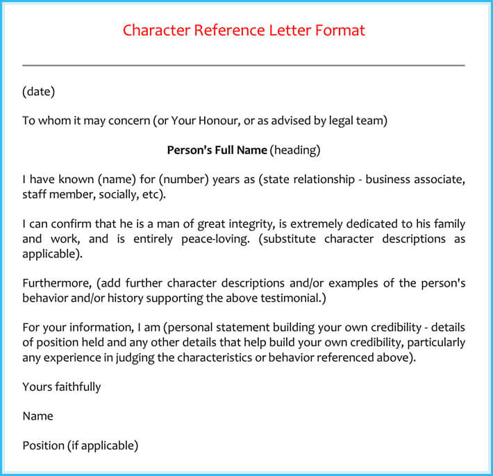 Reference Letter Examples - 20+ Samples, Formats & Writing Tips