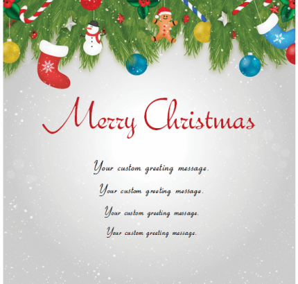 Christmas Card Templates for Microsoft Word