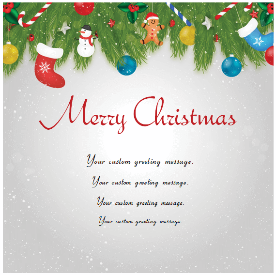 Christmas Card Templates Templates for Microsoft Word