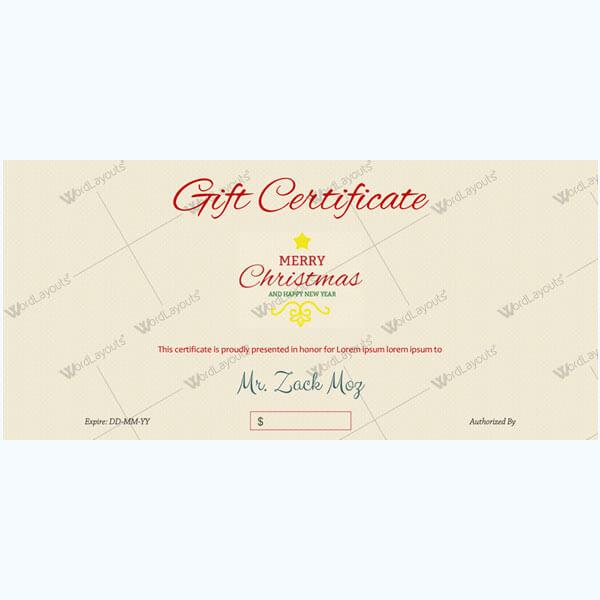 Christmas Certificate (Elegant Pattern)