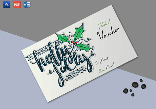 Christmas Gift Certificate (Royal Design)