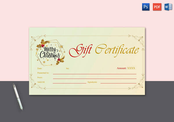 Royal Design Christmas Gift Certificate