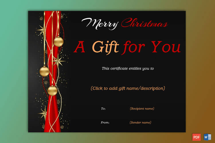 Christmas Gift Certificate (Black,Red)