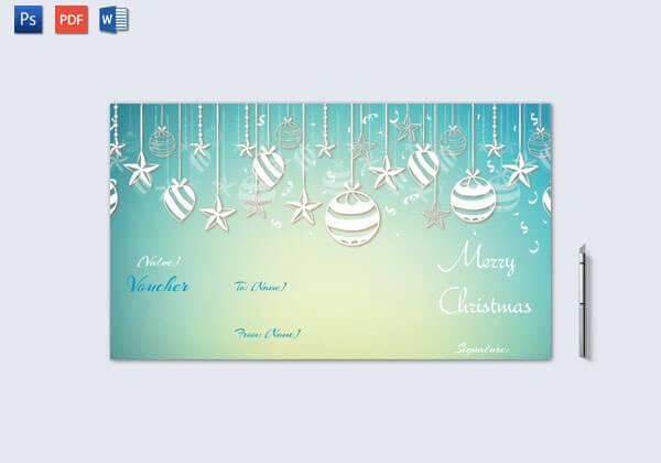 Christmas Gift Certificate – Sky Blue Design