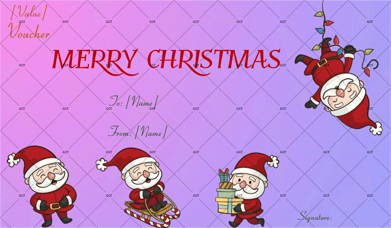 Christmas gift certificate templates for word