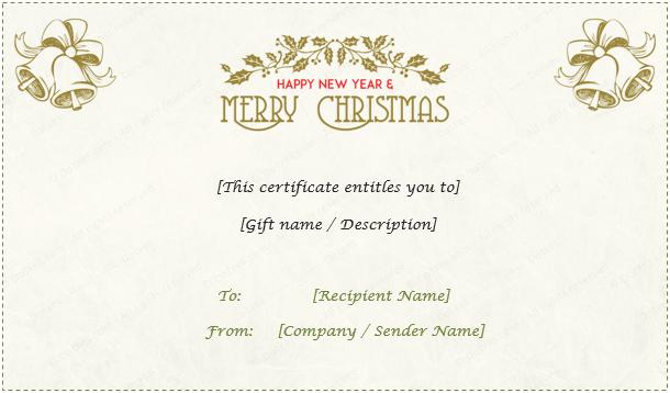 Christmas Gift Certificate Light Floral Design