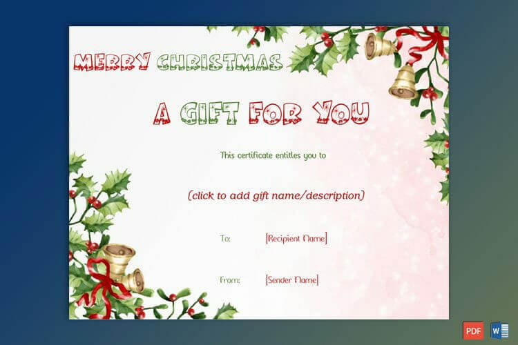 50 Christmas Gift Certificate Templates For 2019 Word Pdf