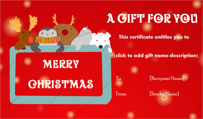 Christmas Gift Certificates 15