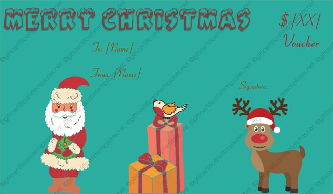 Christmas Gift Voucher Creator