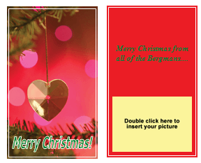 Christmas Card Templates Word Endearing Christmas Card Templates  Templates For Microsoft® Word