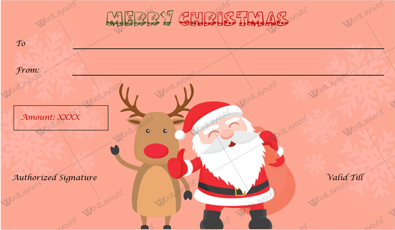 Christmas holiday voucher template