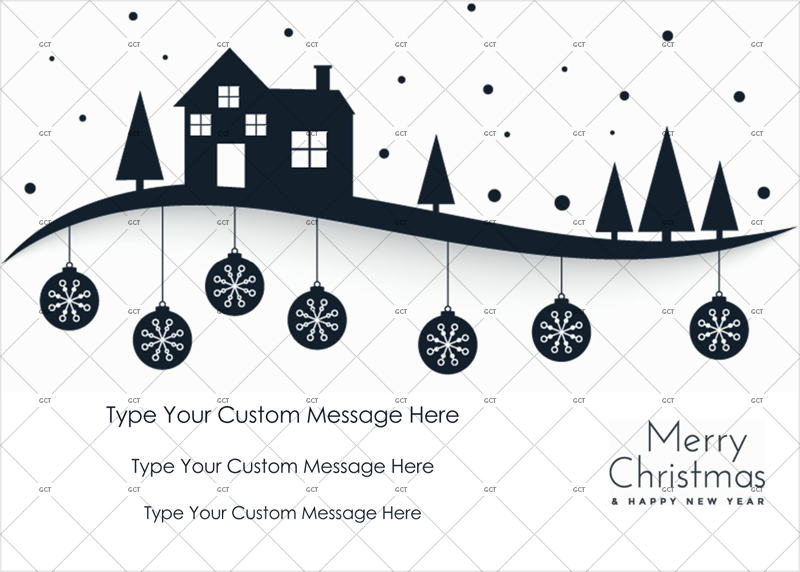 Christmas themed card template for Word