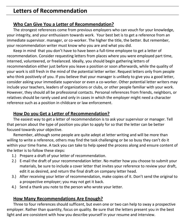 writing a recommendation letter for co-worker