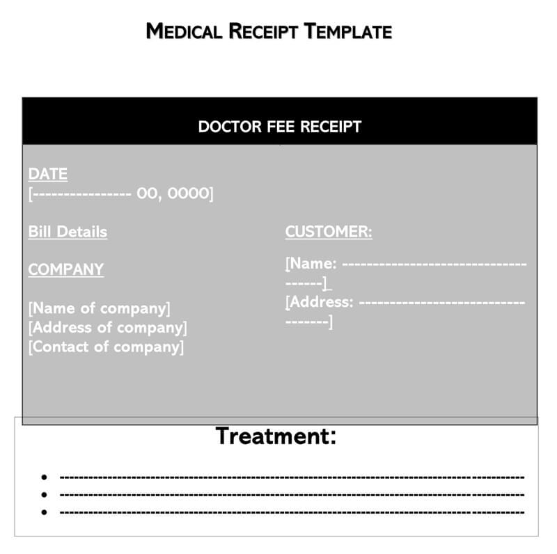 Colorful Medical Receipt Template