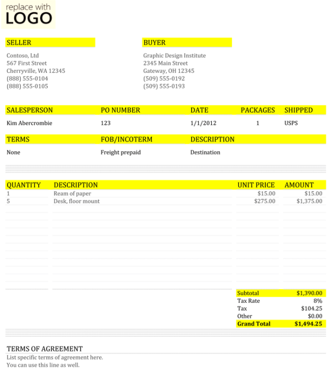 8+ Free Commercial Invoice Templates to Stay Professional ...