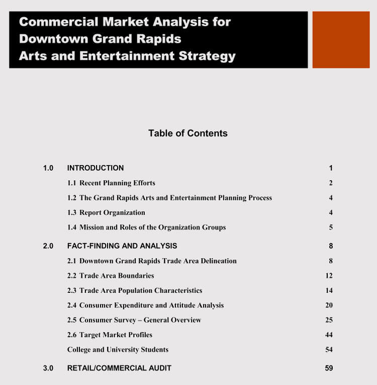 Commercial Markey Analysis Sample for Small Business