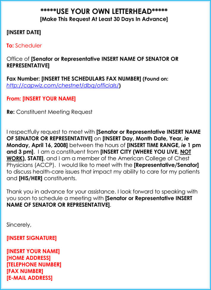 Meeting Appointment Request Letter 25 Samples Templates