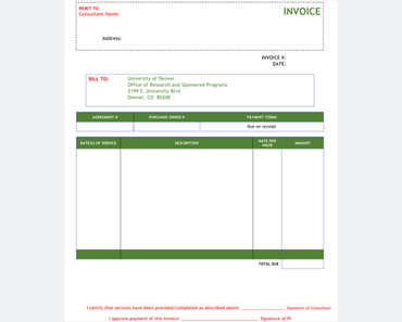 making an invoice template
