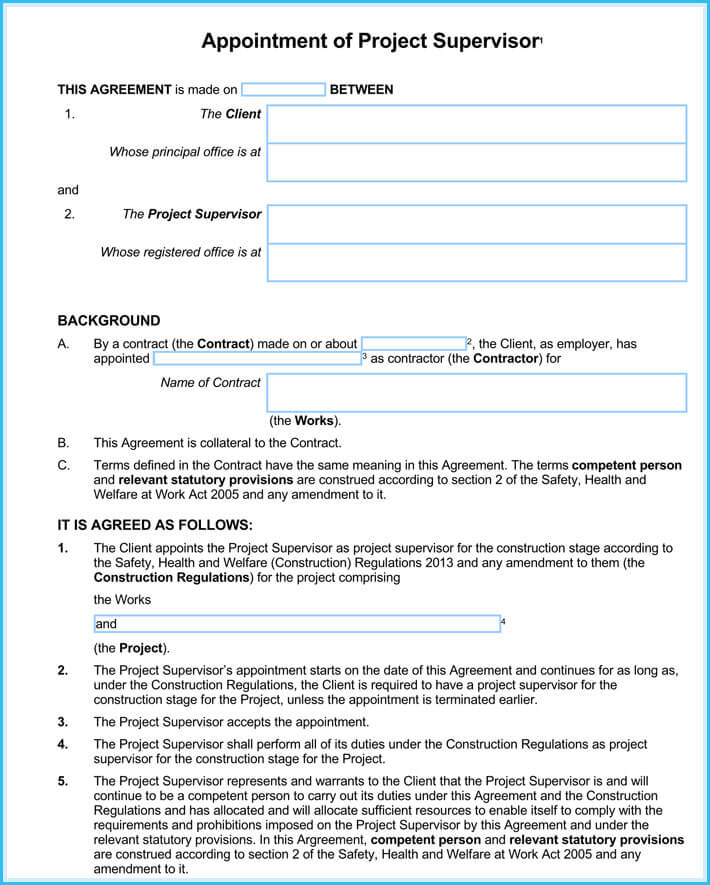 Contractor Appointment Letter   Samples Formats Download In Pdf
