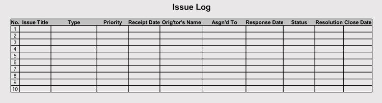 issue tracking  u0026 issue log templates  pdf  excel  word