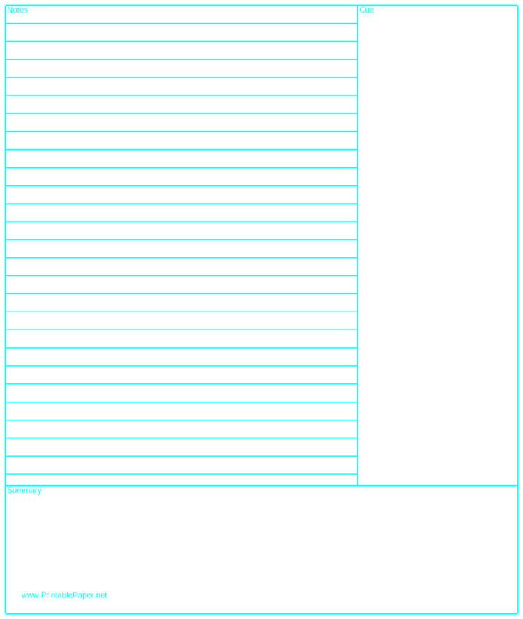 picture regarding Www Printablepaper Net named 40 Cost-free Cornell Notice Templates (with Cornell Take note Getting
