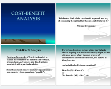 Cost Benefit Analysis Example Feature