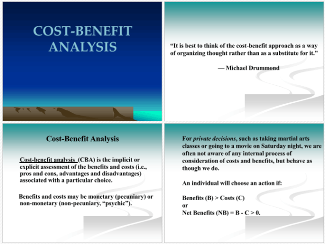 Cost Benefit Analysis Example for PPT
