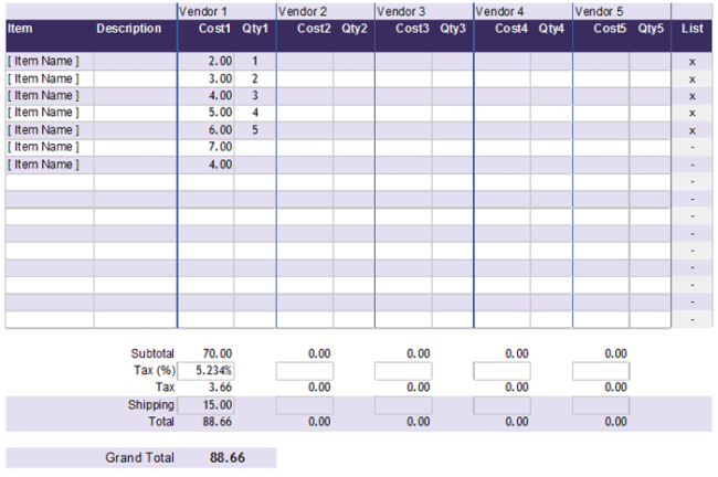 Cost Comparison Template  Cost Savings Analysis Template