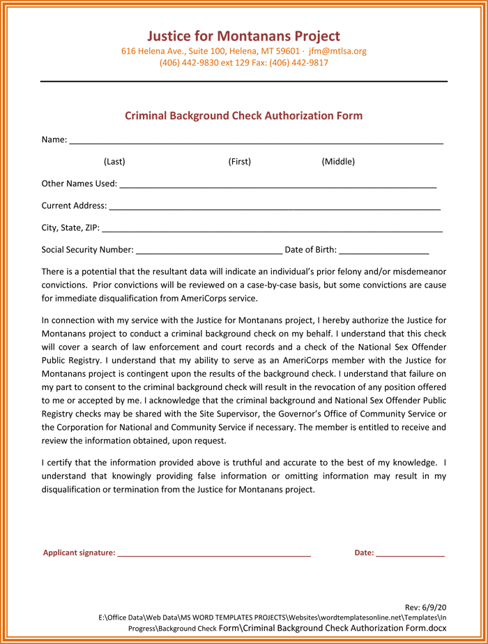 Bright image in free printable background check forms
