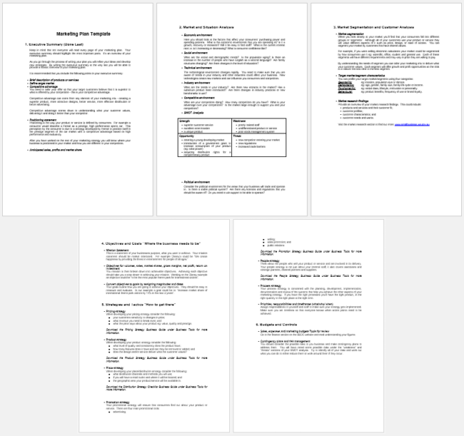 Customer analysis templates 5 documents for word and pdf for Client analysis template