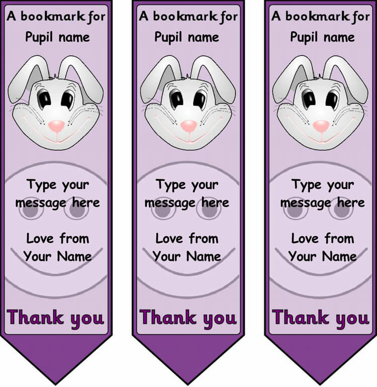 image relating to Printable Bookmark Template Word named 28+ Free of charge Bookmark Templates: Layout your bookmarks inside of design