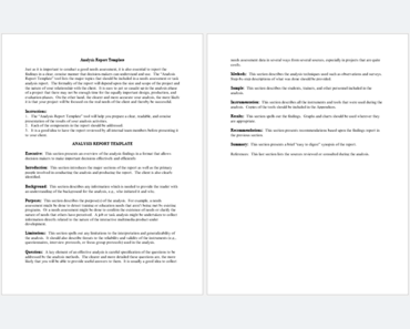 Data Analysis Report Template (Feature)